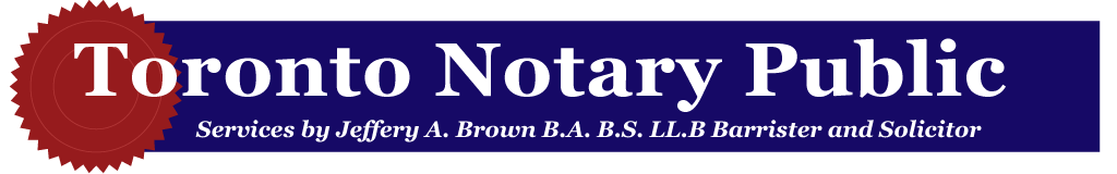 Sample Documents Toronto Notary Public